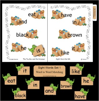 Sight Word Fluency Set #1 ~ Word Focused Activity Books and More