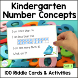 Kindergarten Number Sense Activities Math Riddles Set 1