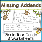 Missing Addend Math Logic Task Cards