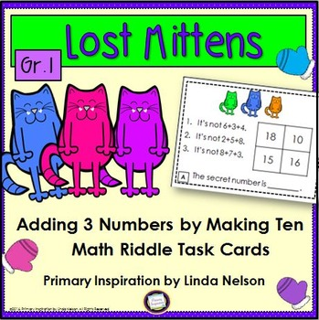 Three Addends Riddle Task Cards