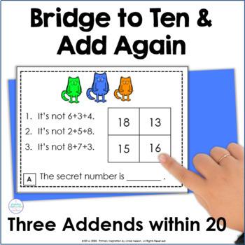 Three Addends Math Logic Task Cards