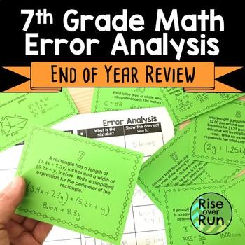 7th Grade Math Mixed Review Activity