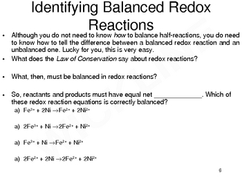 Half-Reactions