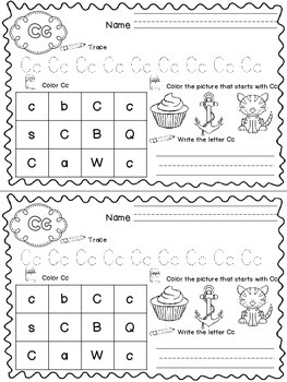 Half Sheet Printables~Alphabet