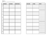 Half-Sheet Size Planbook Pages EDITABLE