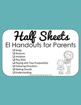 Half Sheets EI Handouts for Parents