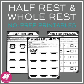 Half Rest & Whole Rest Worksheets