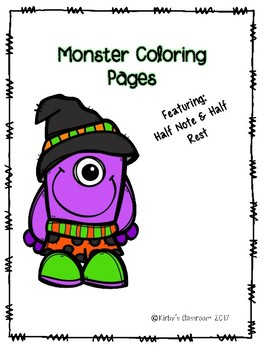 Half note/Half rest monster coloring page