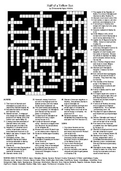 Half of a Yellow Sun - Crossword Puzzle