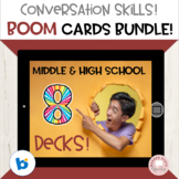 #distancelearning Boom Cards Social Skills Bundle Middle High School