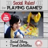 Playing Games Sportsmanship Social Story and Activities Social Skills