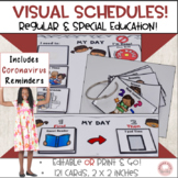 Visual Schedules and Cards Regular and Special Ed Editable 2x2