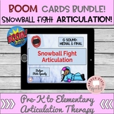 Boom Bundle:  Snowball Fight Articulation & Phonology