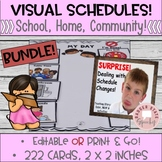 Visual Schedules and Cards Editable Bundle 2x2