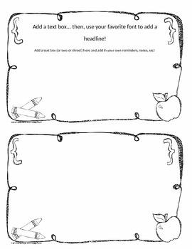 Half-sies { 50 Cute, Easy, Totally Editable Half-Sheet Note Templates }