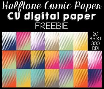 Halftone Comic Papers (CU) FREEBIE