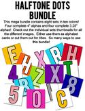 Halftone Dot Alphabet Bundle