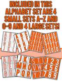 Halftone Dot Alphabet - Orange