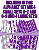 Halftone Dot Alphabet - Purple
