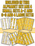 Halftone Dot Alphabet - Yellow