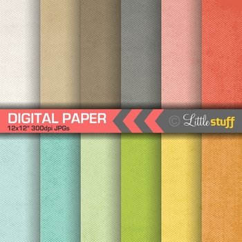 Halftone Lines Digital Paper Pack, Grunge Texture Backgrounds