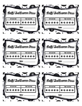 *Free* Hall / Bathroom Pass Template