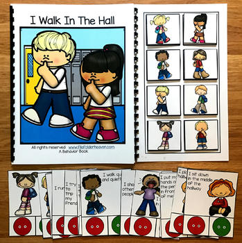 Hall Behavior Adapted Book and Activities
