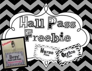 Hall Pass Editable