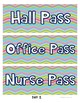 14 Different Hall Passes with two designs - Back to School- Print & Go!