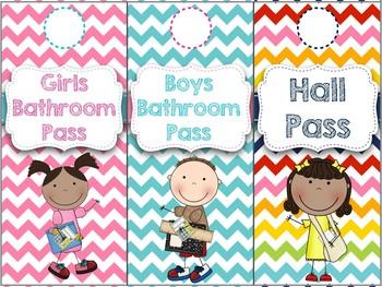Rainbow Chevron Hall Pass