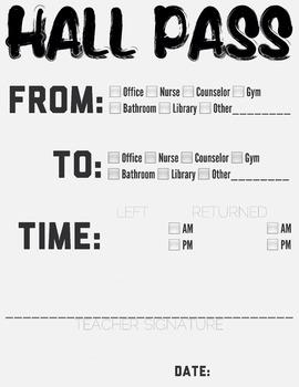 Hall Pass B&W