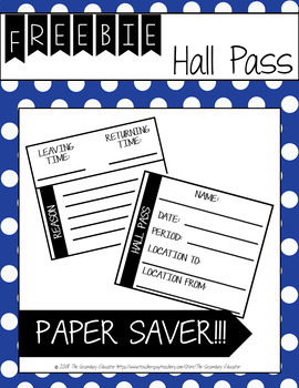 Hall Pass *FREEBIE