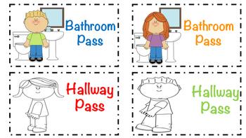 Hall Pass Freebie