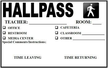 Hall Pass - Half Page