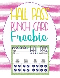 Hall Pass Punchcard