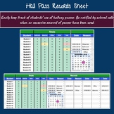 Hall Pass Records Sheet: Editable with Color Coding (Googl