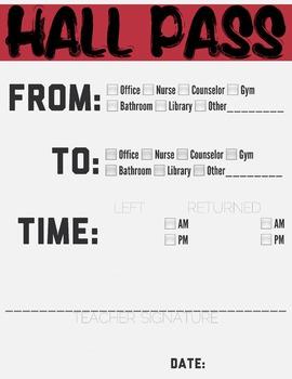 Hall Pass Red Header