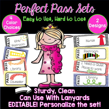 Perfect Pass Sets! 4 Colors, 2 Designs. Easy to Use,Hard to Lose Passes.EDITABLE