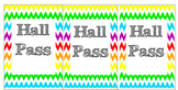 Hall Pass Set! Cutomize and slip into name badge pockets w