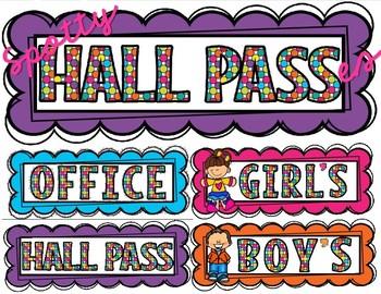 Hall Pass Set FREEBIE
