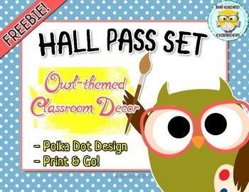 Hall Pass Set Owl Theme