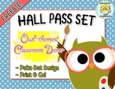 Hall Pass Set Owl Theme