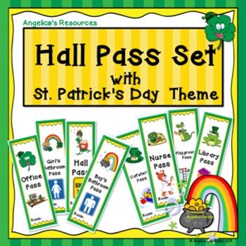 St. Patrick's Day Hall Pass Set