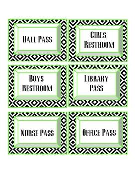 Hall Pass Tags!