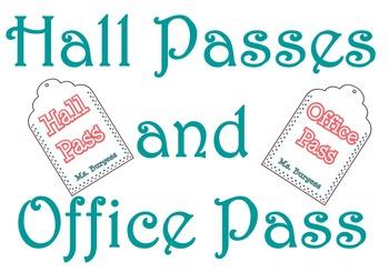 Hall Pass Tags