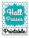 FREEBIE! Hall Pass Template - Editable!