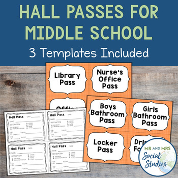 hall pass template for middle school  Hall Pass Template for Middle School Students
