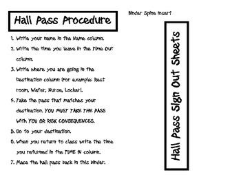 Hall Pass Tracking System