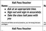 Hall Pass Voucher