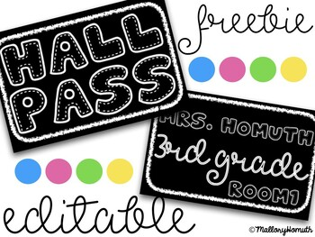 Hall Pass (editable)